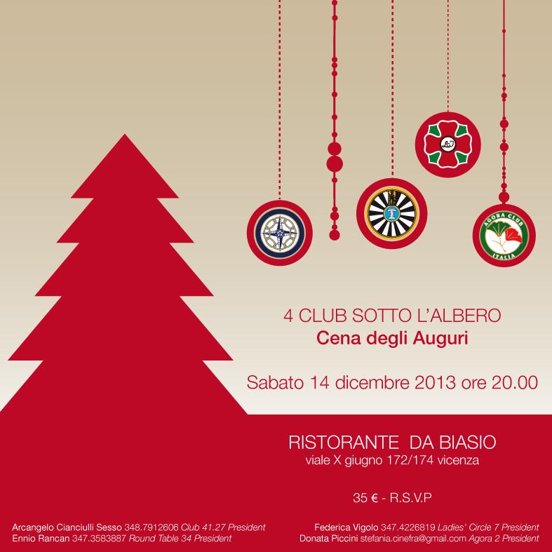 Cena Auguri Di Natale.4 Club Sotto L Albero Cena Degli Auguri Di Natale Club 41 Vicenza 27
